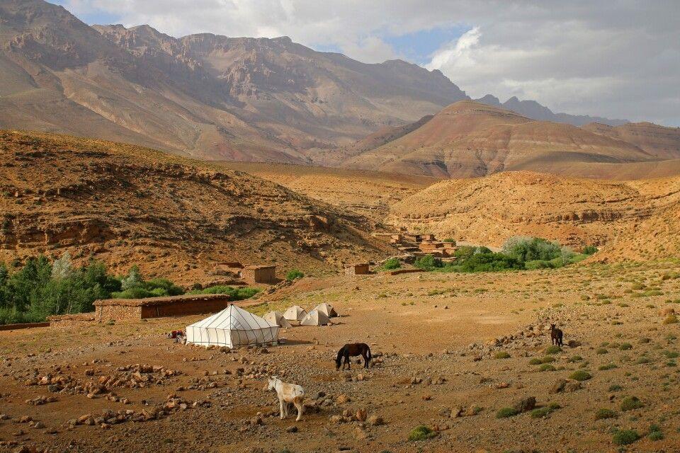 Lagerplatz im Mgoun Massiv