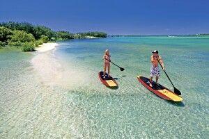 Stand up paddler Calaundra Australia Nature Coast Sunshine Coast