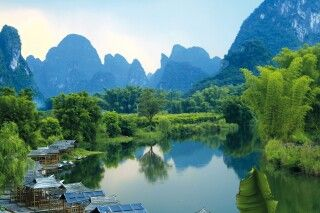 Karstkegellandschaft bei Guilin