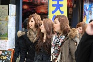 Junge Mädchen aus Tokio