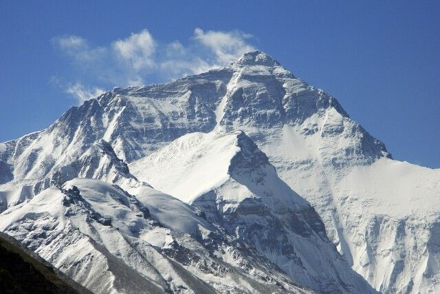 Mount Everest (8848 m) vom Basislager in Tibet