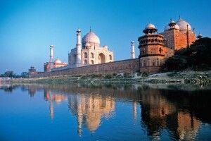 Taj Mahal (UNESCO) und Rote Fort in Agra