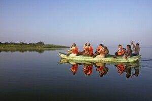Katamaranfahrt in Polonnaruwa