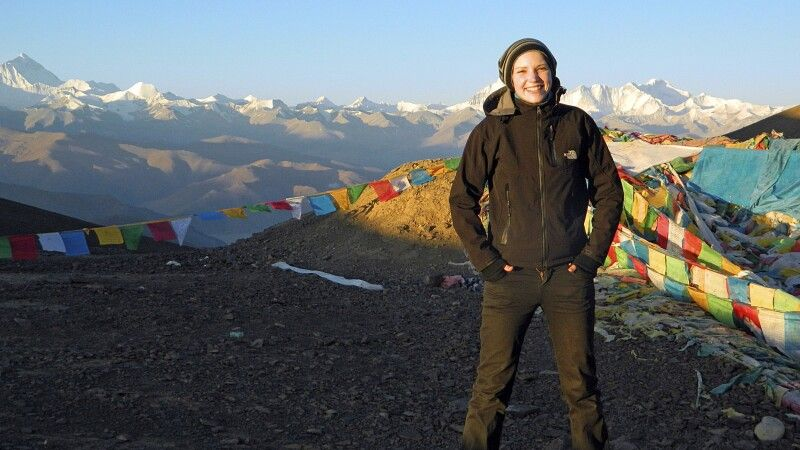 Blick vom Pang-La-Pass (5120 m) zum Everest und Cho Oyu © Diamir