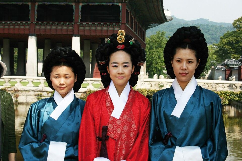 Traditionelle Kleidung in Seoul