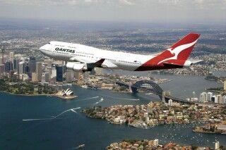 Qantas Flug über Sydney