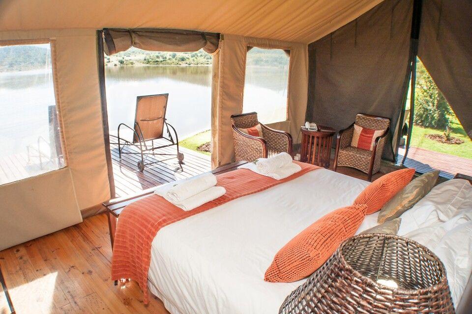Luxuriöse Waterfront Unterkunft in der Buffelsdrift Game Lodge