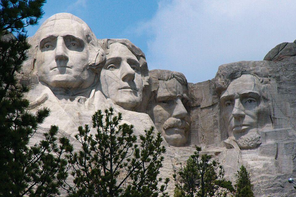 Die berühmten Präsidenten-Portraits am Mt. Rushmore
