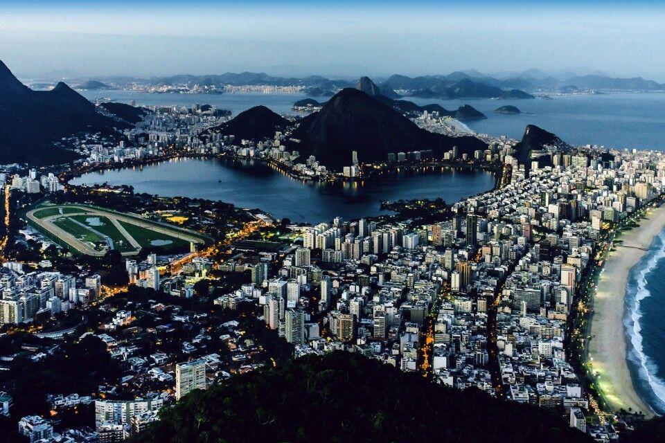 Blick von Dois Irmaos auf Rio de Janeiro