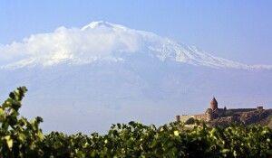 Kirche Chor Virap mit Ararat
