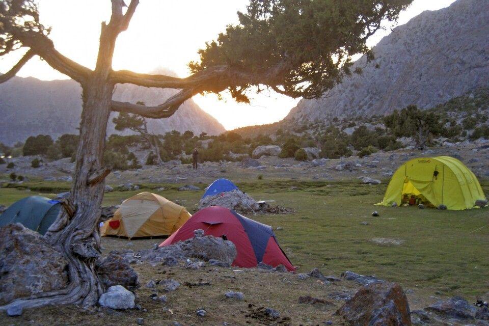 Sonnenuntergang im 1. Camp unweit des Kulikalonsees