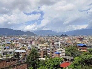 Blick über die Dächer von Kathmandu