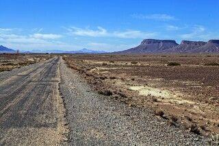 Straße durch das Gebirge