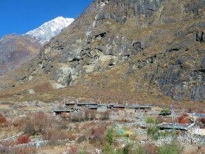 Mundu, direkt hinter dem Langtang-Dorf, ist fast unbeschadet geblieben.
