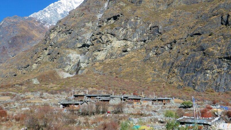 Mundu, direkt hinter dem Langtang-Dorf, ist fast unbeschadet geblieben. © Diamir