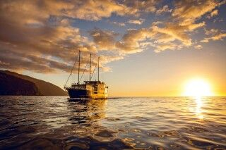 Sonnenuntergang Milford Sound