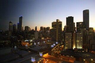Melbourne bei Sonnenuntergang