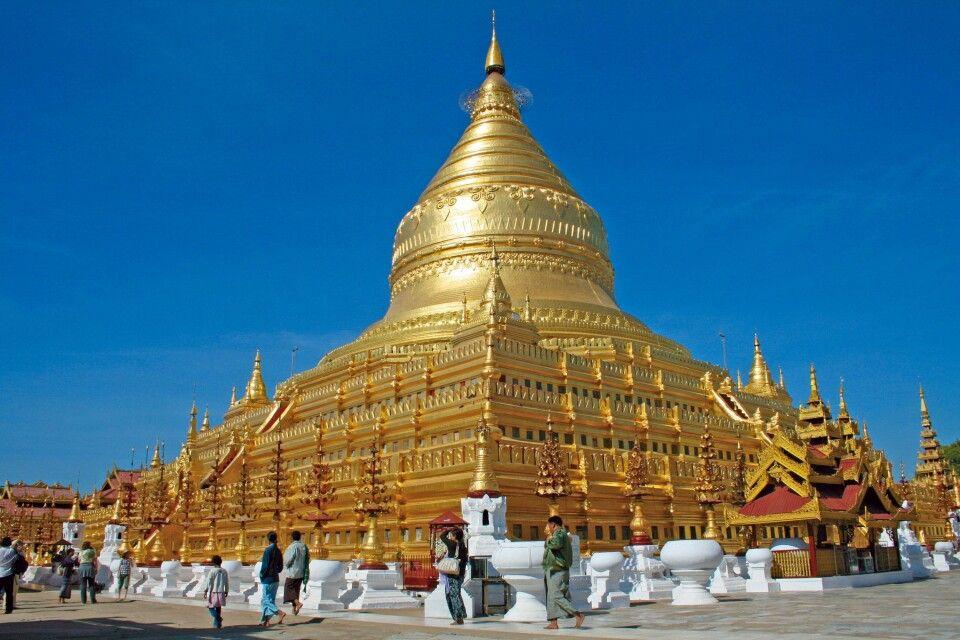 Shwezigon-Pagode in der Nähe von Bagan