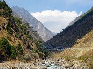 Timure, Grenzübergang von Nepal nach Tibet.