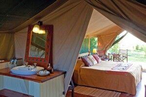 Zelt im Governors Camp