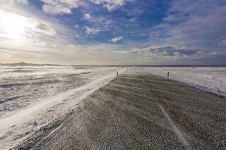 Ringstraße im Winter