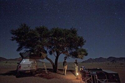 Zelten unter dem Sternenhimmel