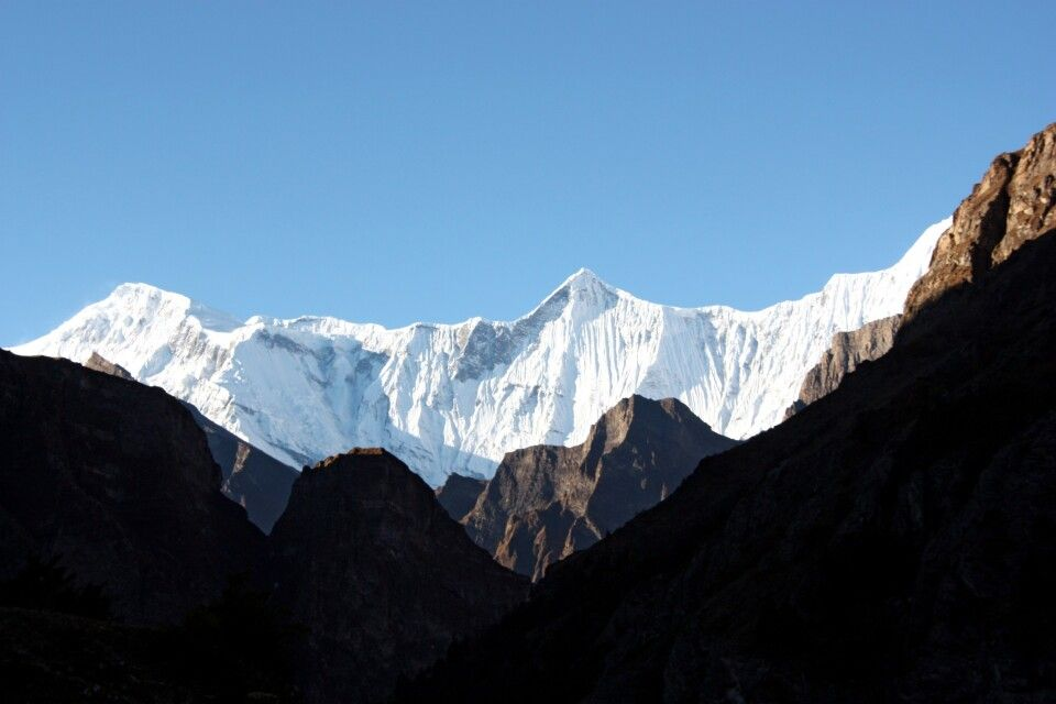 Blick zur Annapurna Gruppe