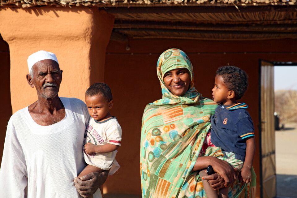 Nubische Familie