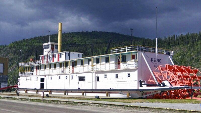 Das historische Schiff Keno in Dawson City © Diamir