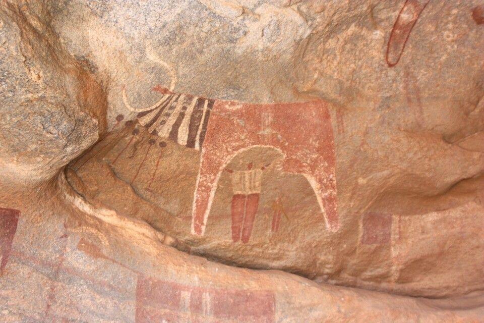 Felsenmalerei von Laas Geel