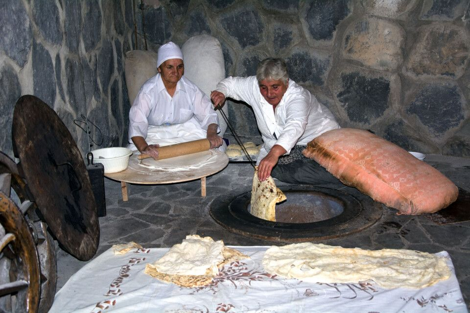 Hier wird Lawasch gebacken