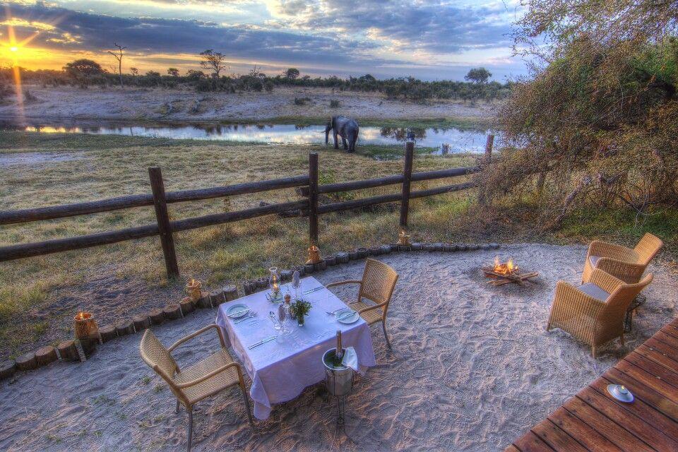 Ausblick von der Savute Safari Lodge