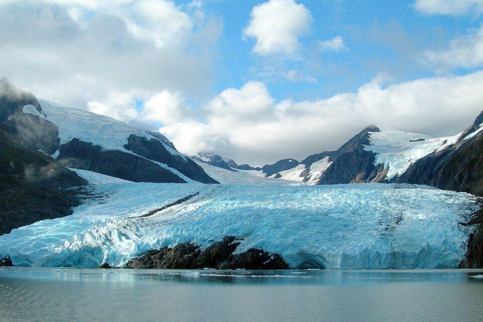 Portage-Gletscher im südlichen Alaska
