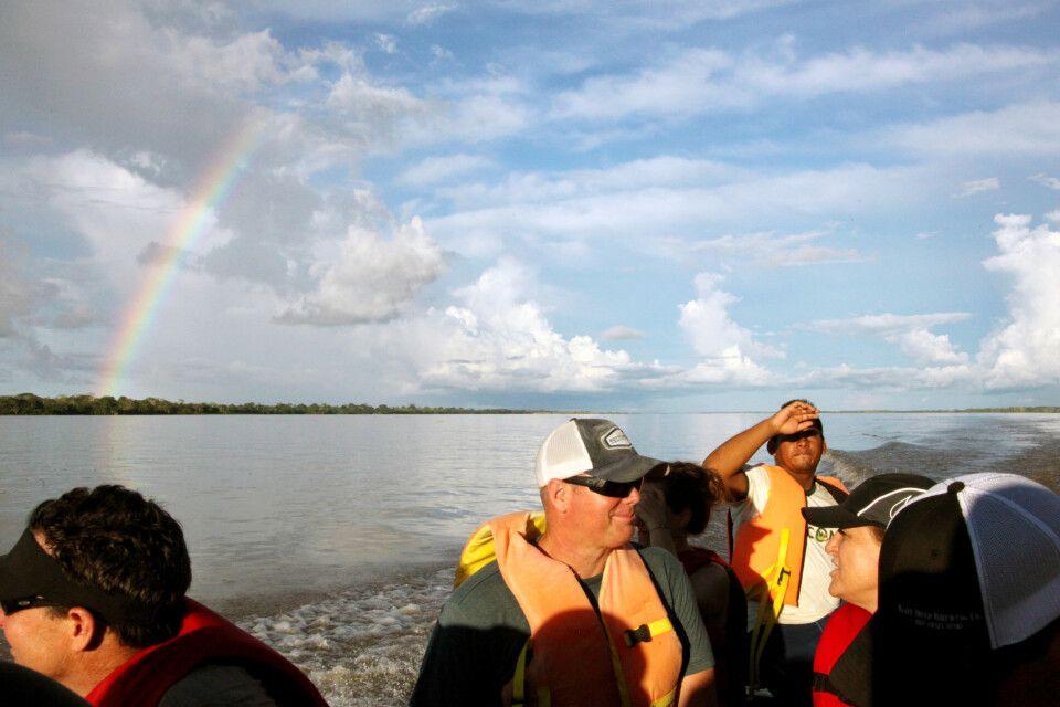Bootsfahrt auf dem Amazonas