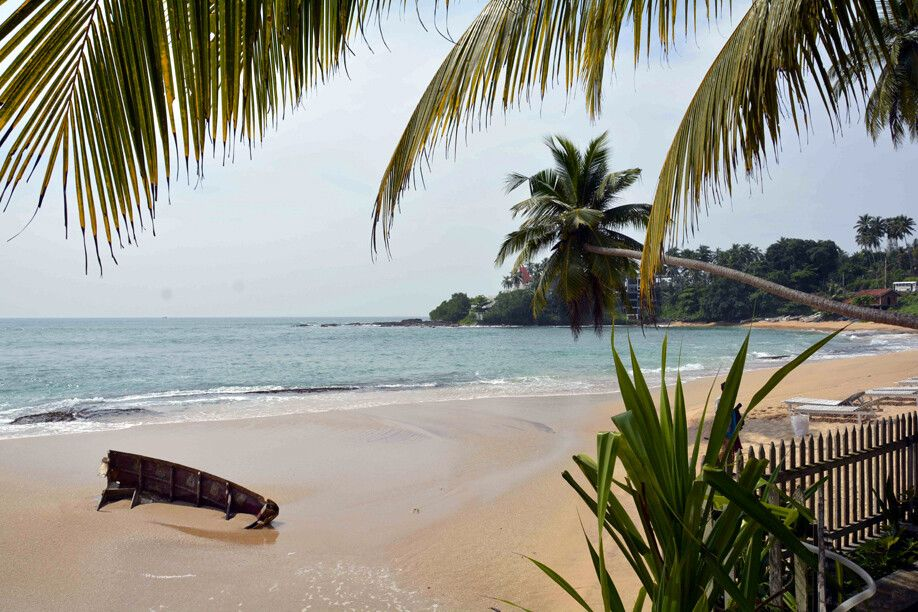 Strand an der Südküste Sri Lankas