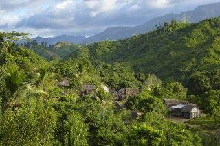 Kleines Dorf auf der Masoala Halbinsel