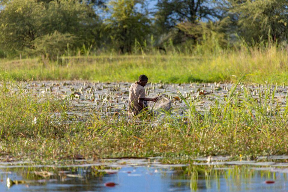 Fischer in der Kavango-Region