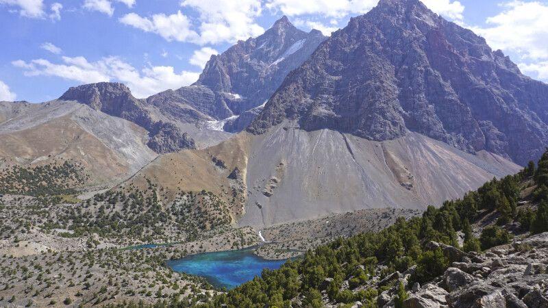 Fan-Gebirge mit See © Diamir