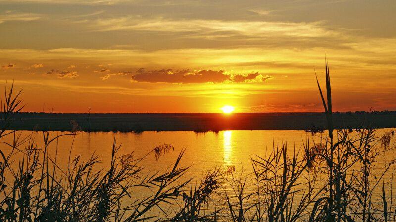 Sonnenuntergang über dem Chobe © Diamir