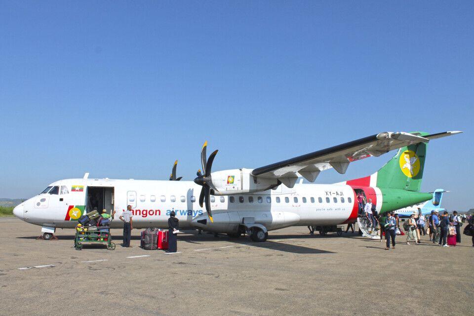 Inlandsflüge machen das Reisen einfach in Myanmar