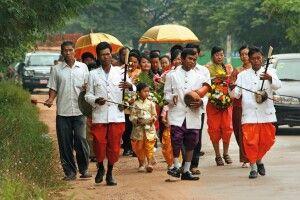 Hochzeitszeremonie in den Vororten von Phnom Penh