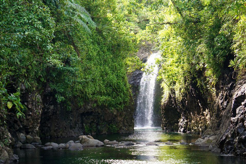 Wasserfall am Ende des Lavena-Coastal-Walk