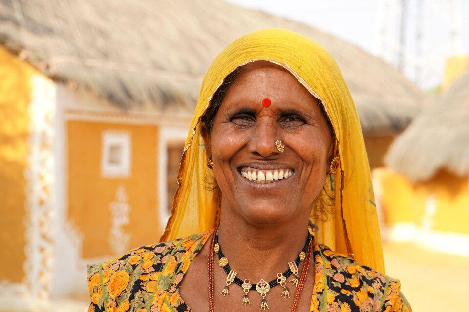 auf dem Weg zur Wüste Thar Besuch bei einer Familie