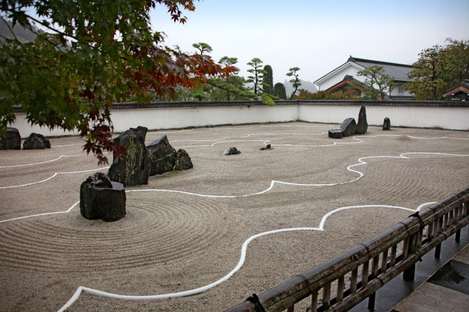 Steingarten in Kiso Fukushima
