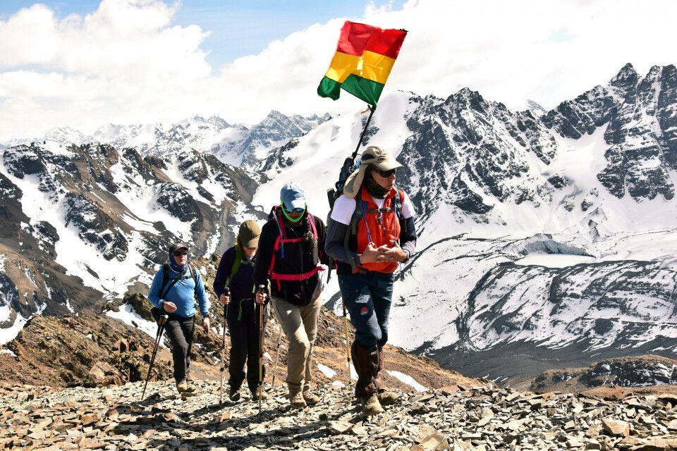 Panorama beim Aufstieg am Pico Austria