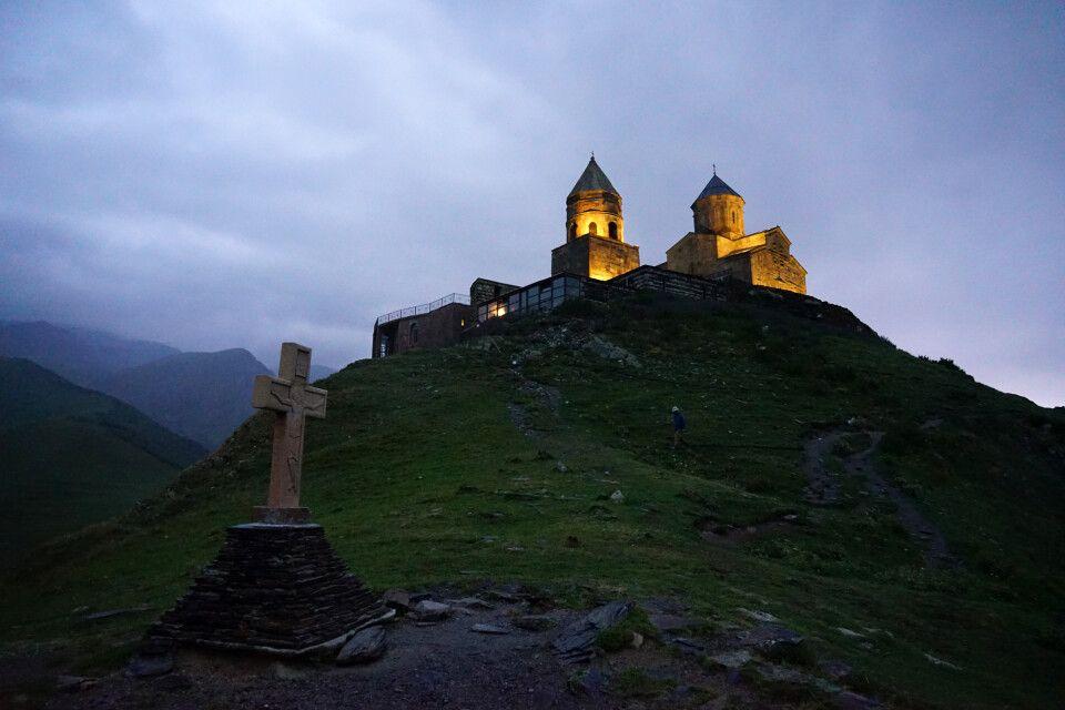 Gergetier Dreifaltigkeitskirche in Stepantsminda