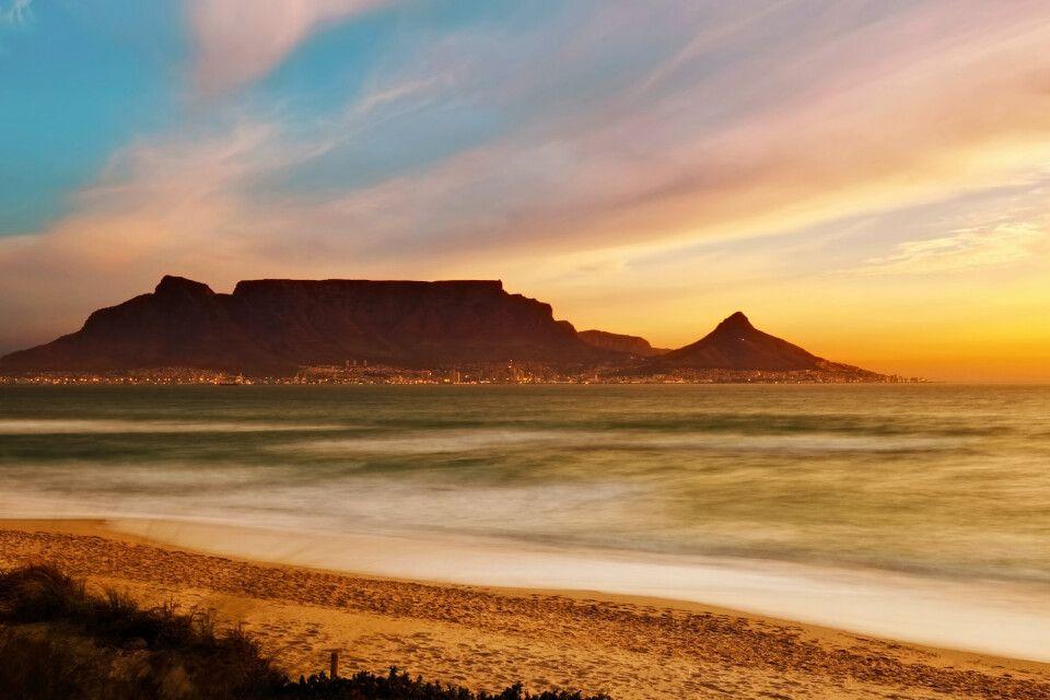 Blick auf den Tafelberg in Kapstadt