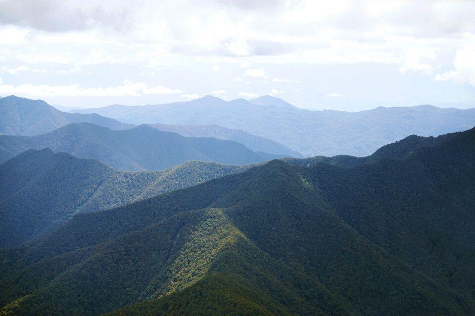 Flug über die Kaikoura Ranges