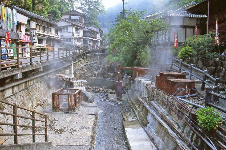 Einer der ältesten Onsen Japans in Yunomine