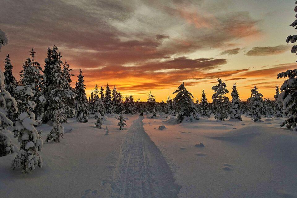 Die ersten Sonnenstrahlen nach der Polarnacht